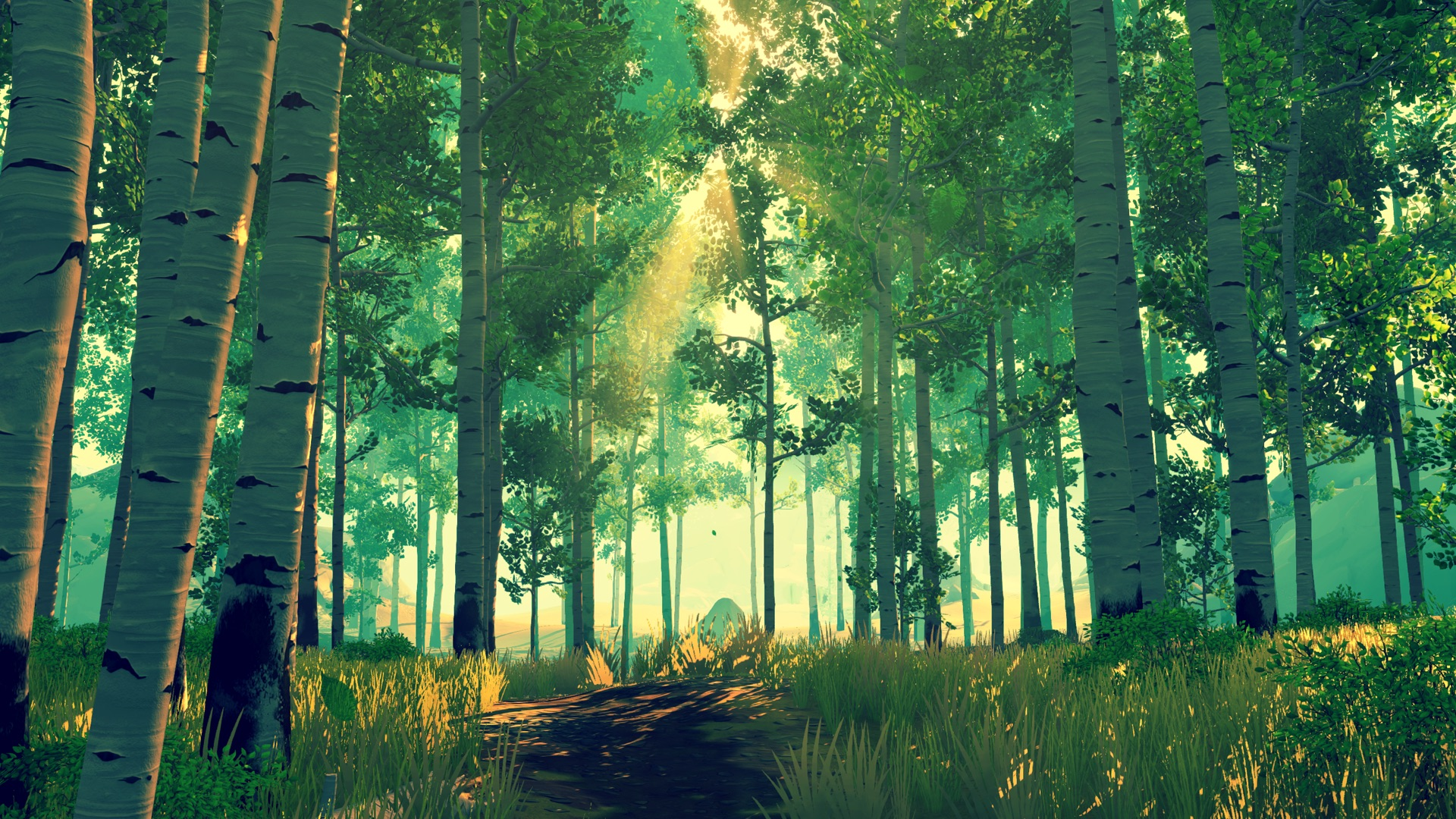 firewatch forest in the morning