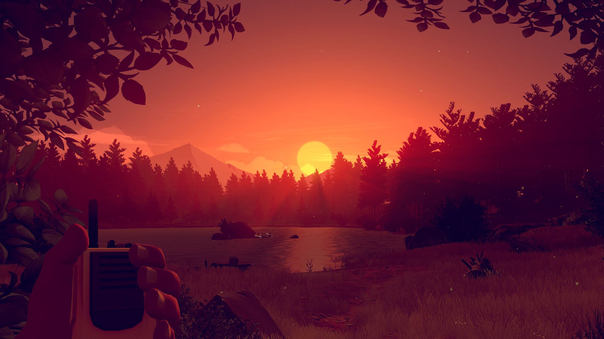 firewatch forest at dusk